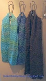 sjaals met pattern golfpatroon