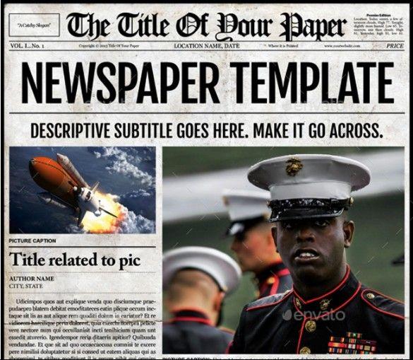 20+ Old Newspaper Template u2013 PSD, Indesign and Ai Format 구입할 - old newspaper template