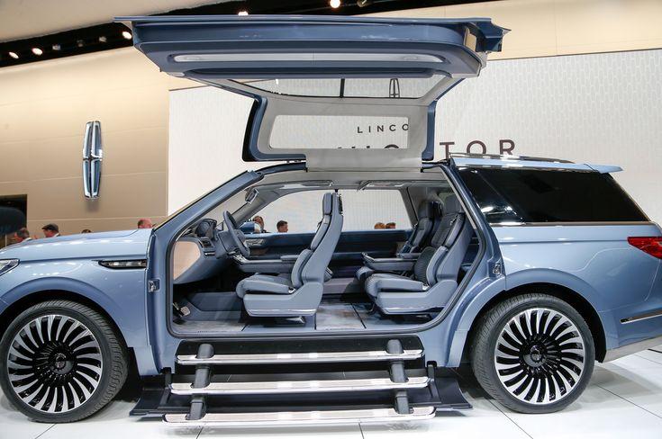 2018 Lincoln Navigator concept on show floor gullwing doors open