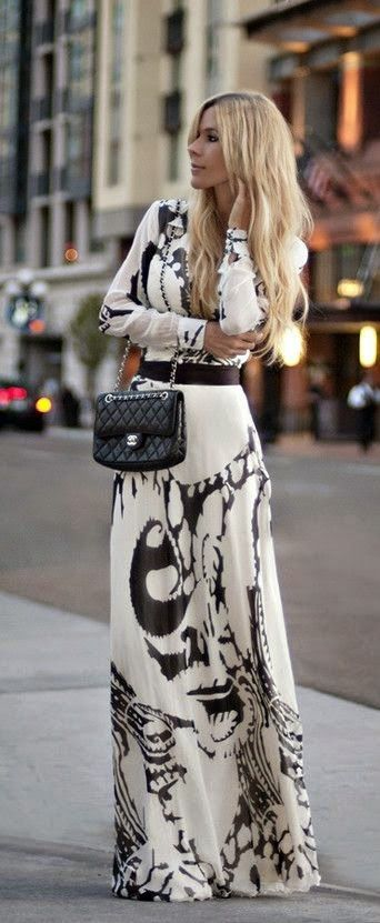 Printed Long Maxi Perfect Street Style