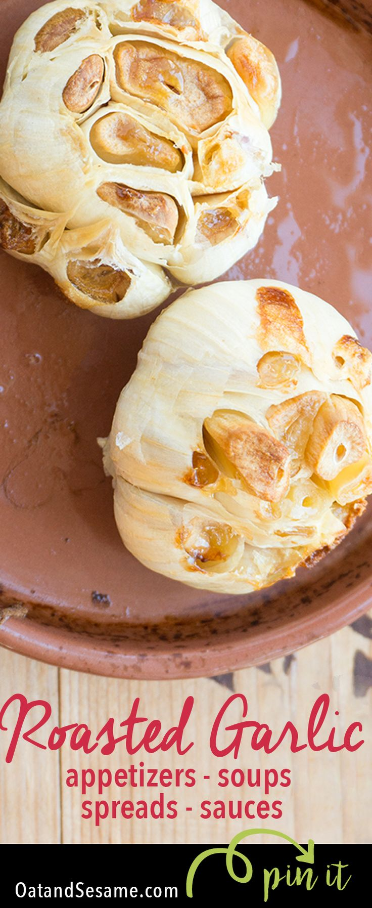 Roasted Garlic and 10 Ways to Use it! Mellow and rich, roasted garlic can flavor so many dishes | recipe at OatandSesame.com