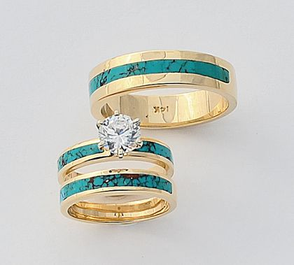 Turquoise Engagement Ring Wedding Band Mens Diamond And Set