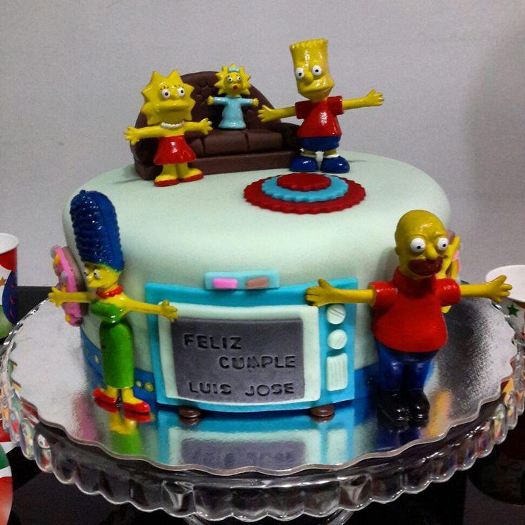 Mi cumpleaños con motivo The Simpsons