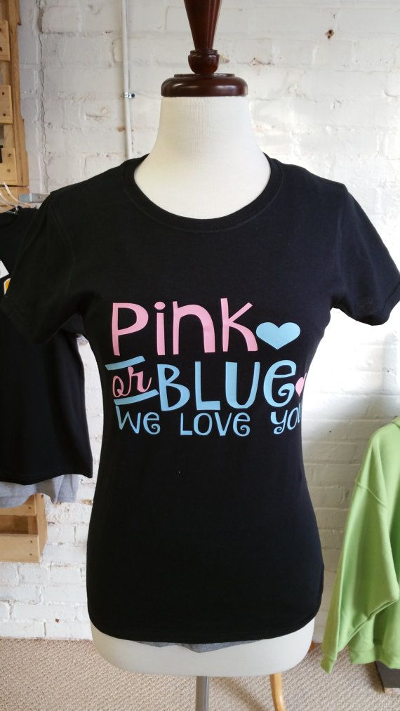 Pink or Blue We Love You Gender Reveal Shirt Baby by DDandDesigns