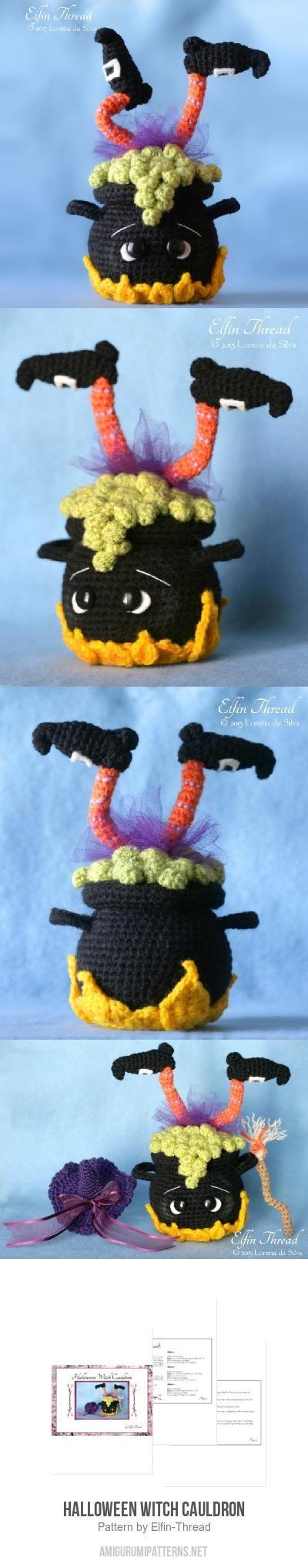 Halloween Witch Cauldron Amigurumi Pattern