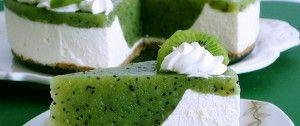 Osvěžující kiwi dort bez pečení