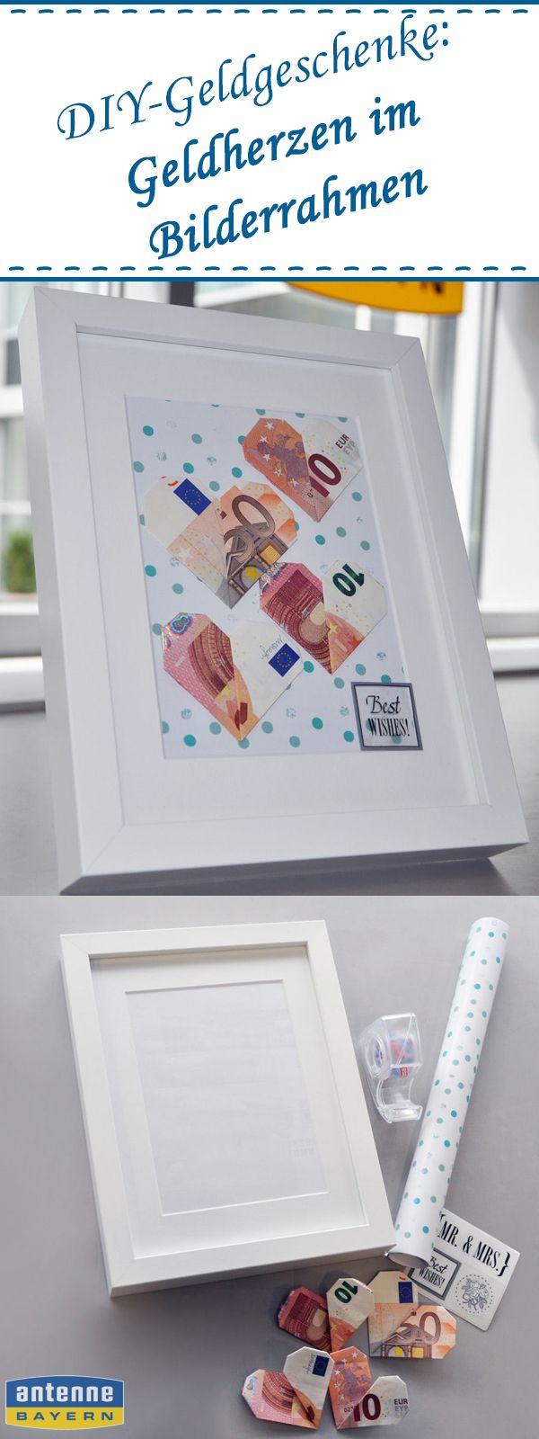 Von ganzen Herzen – für die leere Kasse: Der Bilderrahmen mit Geldherzen