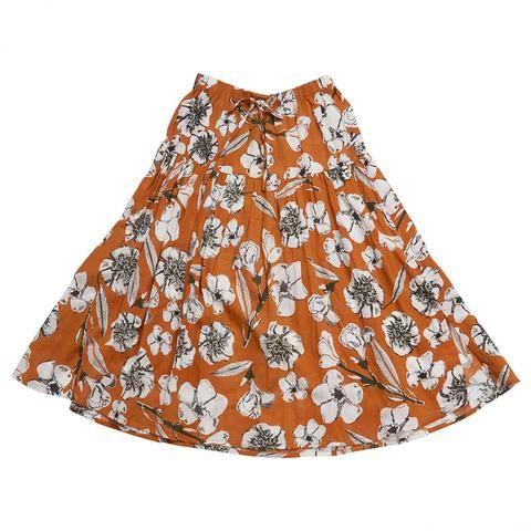 Feather Drum_Maxi Skirt - Tan Flora Not Fauna - The Child Hood
