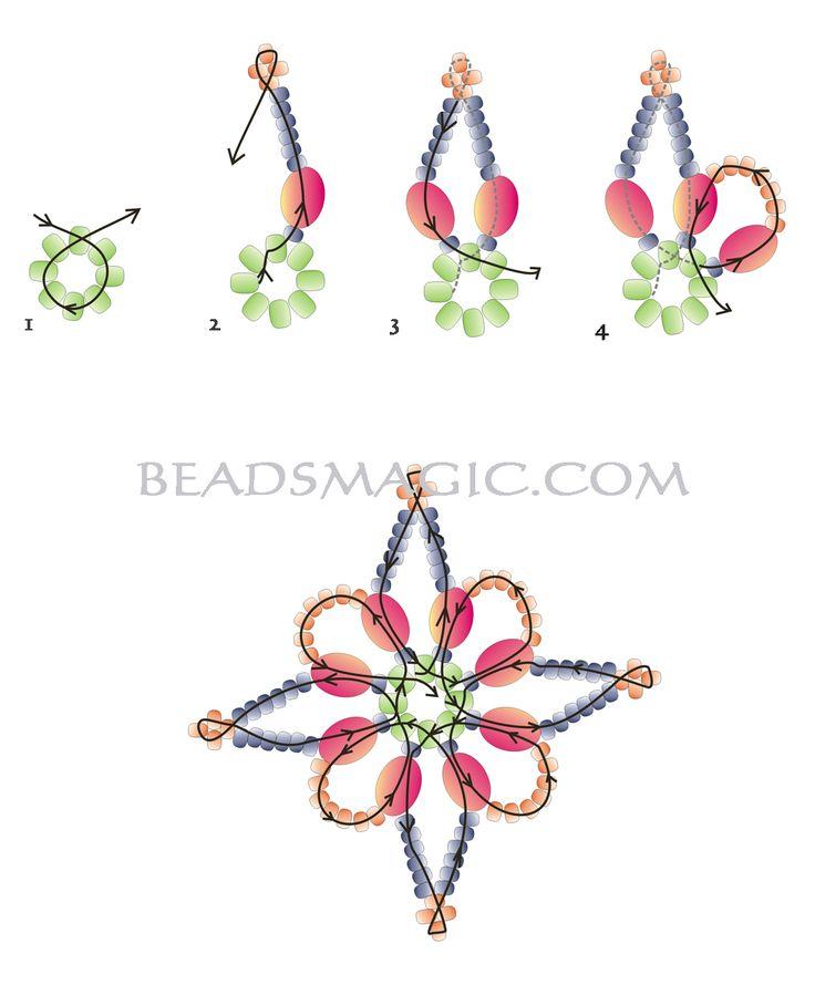 Free pattern for earrings Robertina | Beads Magic