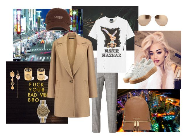 """""""Untitled #224"""" by raphaelaelena on Polyvore featuring Børn, Thom Browne, VFiles, Theory, Rolex, Linda Farrow, Michael Kors, Puma, women's clothing and women"""