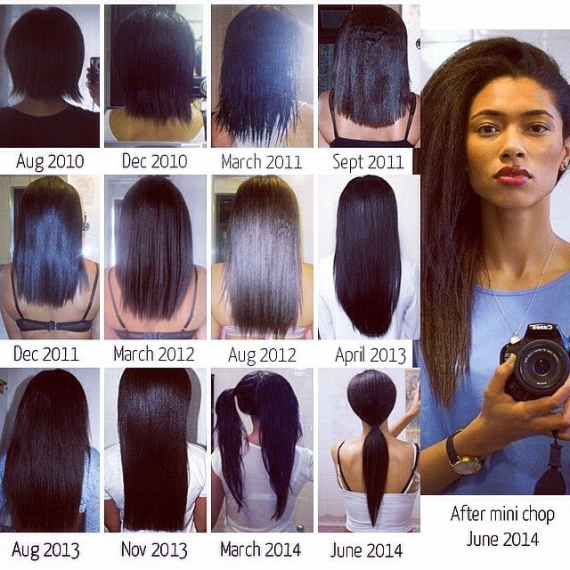 "Healthy Relaxed Hair Journey-""#lengthcheck way overdue since chopping off 3-4…"