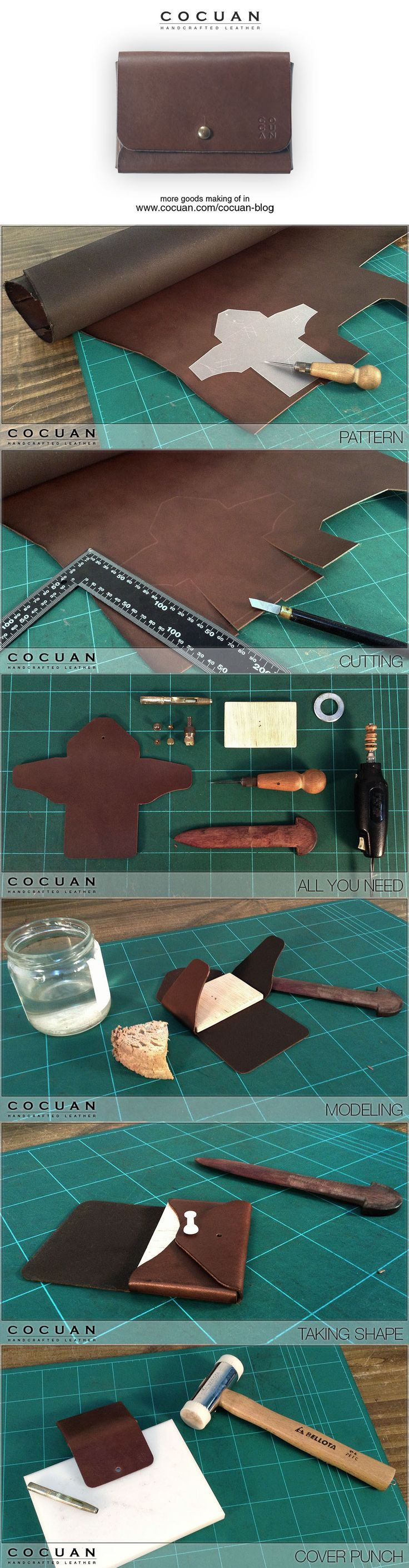 "Card wallet making of www.cocuan.com...""Spoony says"": This is simple and sweet!"