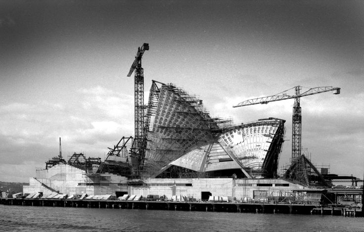 Sydney Opera House under construction, 1965. Shirley Sierins photo.