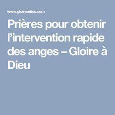 Prières pour obtenir l'intervention rapide des anges – Gloire à Dieu