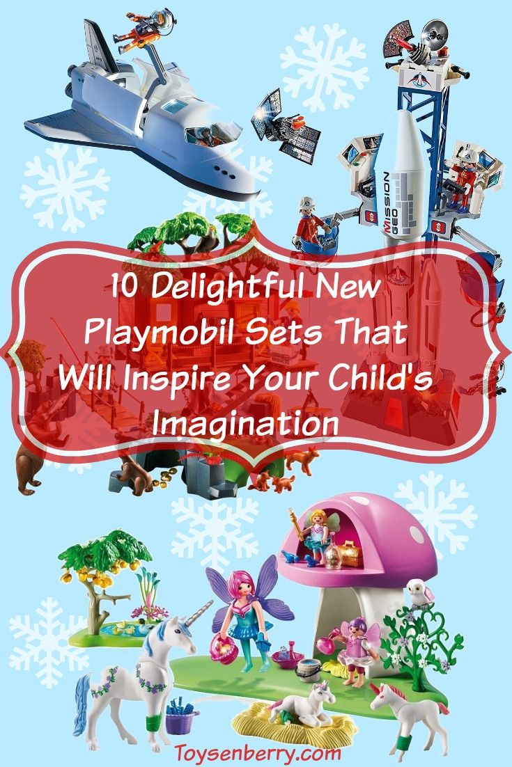 Does your child dream of being an astronaut? Living in a treehouse? Owning a unicorn? Playmobil's new playsets encourage kids to use their imagination and immerse themselves in a whole other world.