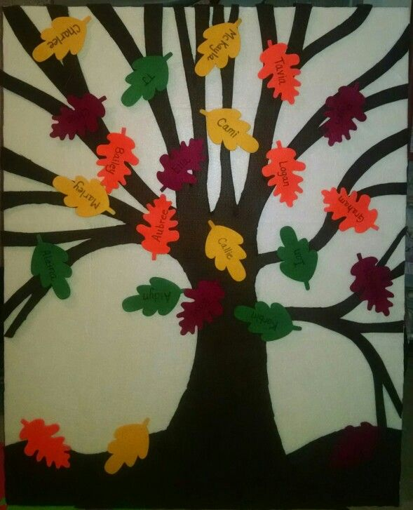 Stick the leaf on the tree game for Alaina's preschool.  Made from foam board and felt with felt leaves. Should be easy for little ones to stick them on.