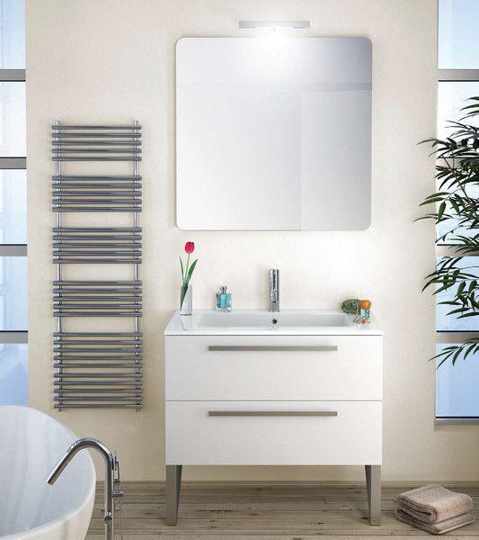 Modern Bathroom 2-Drawer Vanity Set