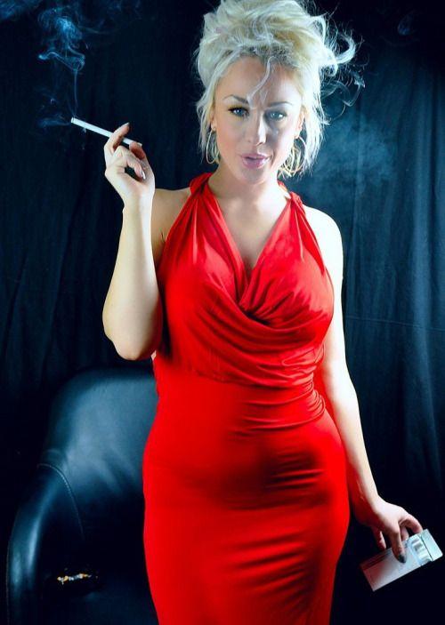 Ladies sexy smoking