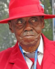 2003 ♦ Pinetop Perkins (1913 - 2011) - American blues pianist. Perkins played with some of the most influential blues and rock and roll performers in American history and received numerous honors during his lifetime, including a Grammy Lifetime Achievement Award.