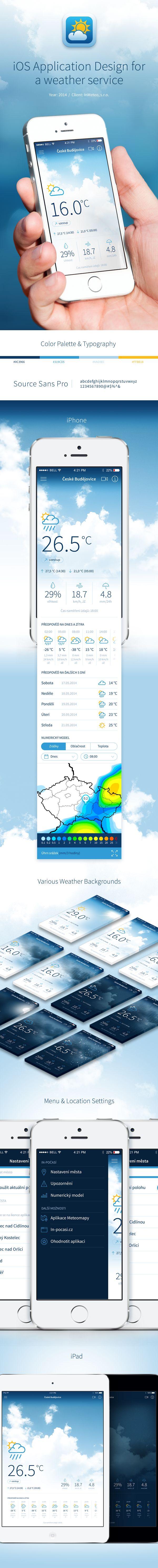 Mobile App Design Inspiration – InPočasí (weather app)
