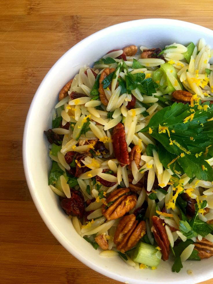 Cranberry, Pecan and Orange Orzo Pasta Salad: a light, flavorful salad packing all of the flavors of winter // A Cedar Spoon