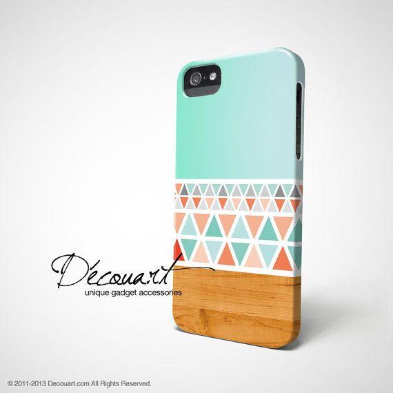 Aztec iPhone 5 case iPhone 4 case aztec mint pink teal by Decouart, $23.99