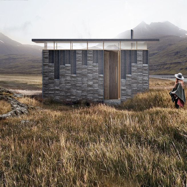 Love how the bed area is raised then a section at the foot of the bed drops back down so you sit on the bed and use the windowsil as a desk!   Slate Cabin | Boutique Hotel, Pop up Glamping, Wales