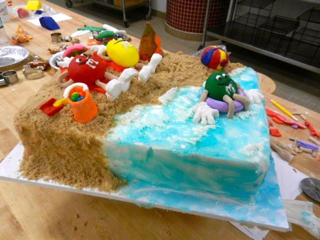 Beach themed M's World cake!
