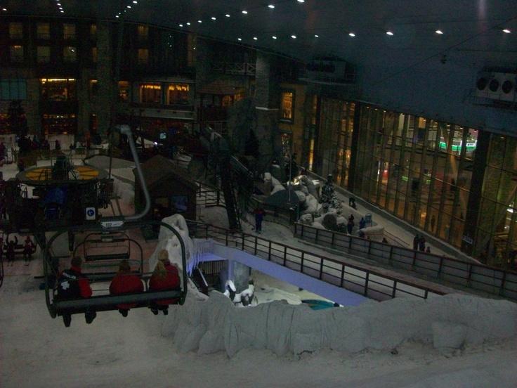 Het uitzicht over ski Dubai #NHTV #3MTT