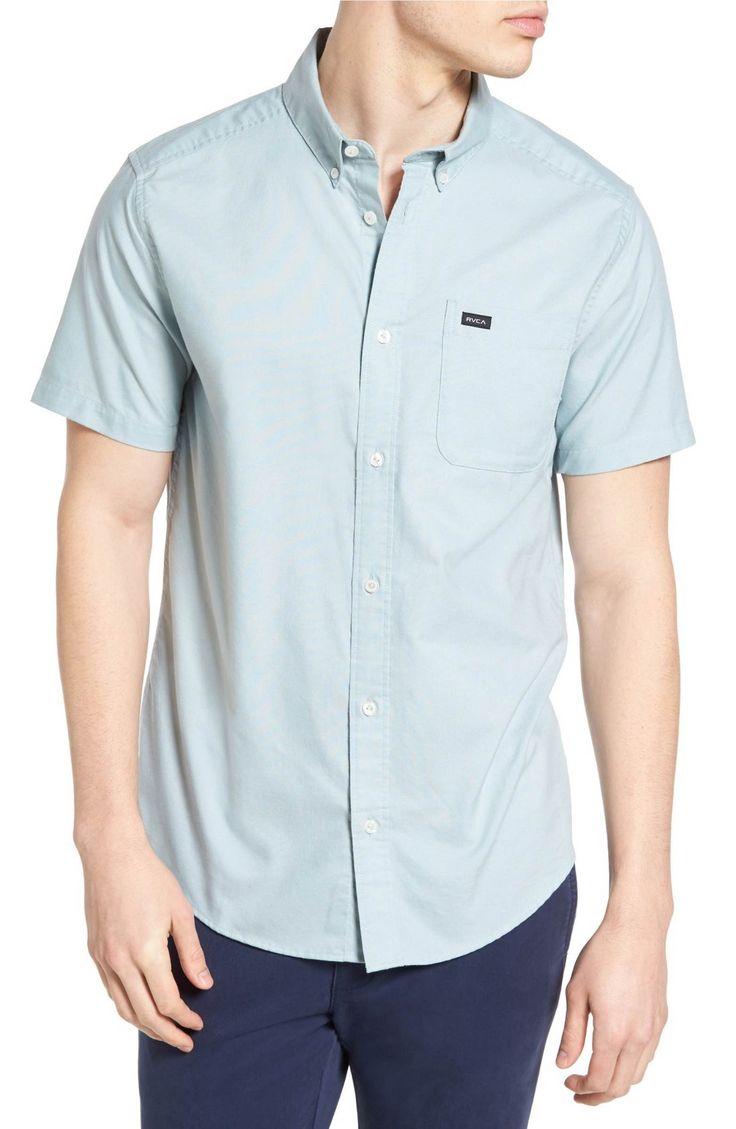 Main Image - RVCA 'That'll Do' Slim Fit Short Sleeve Oxford Shirt