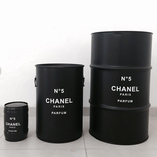 Bedrooms: Chanel barrel for guest bedroom as a nightstand
