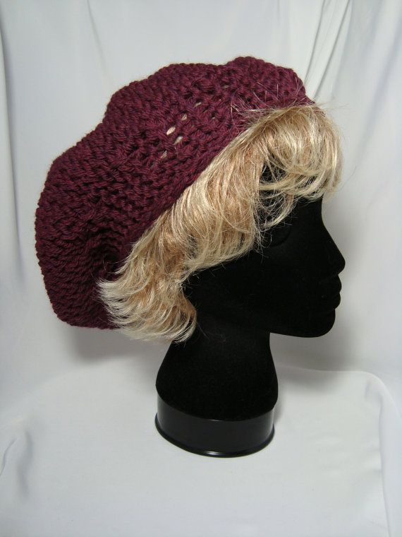 Knitting Pattern For Womens Beret : Hand Knitted - Loom Knitted - Womens Beret Bufandas Pinterest Loom knit...