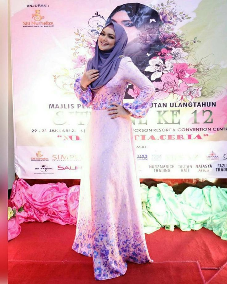 DATO SITI NURHALIZA is wearing a custom ombre flora printed dress #rizmanruzaini