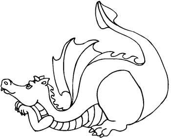 Free Coloring Pages: Cute Dragon – Kids Printable Activities and Word Puzzles - Kaboose.com