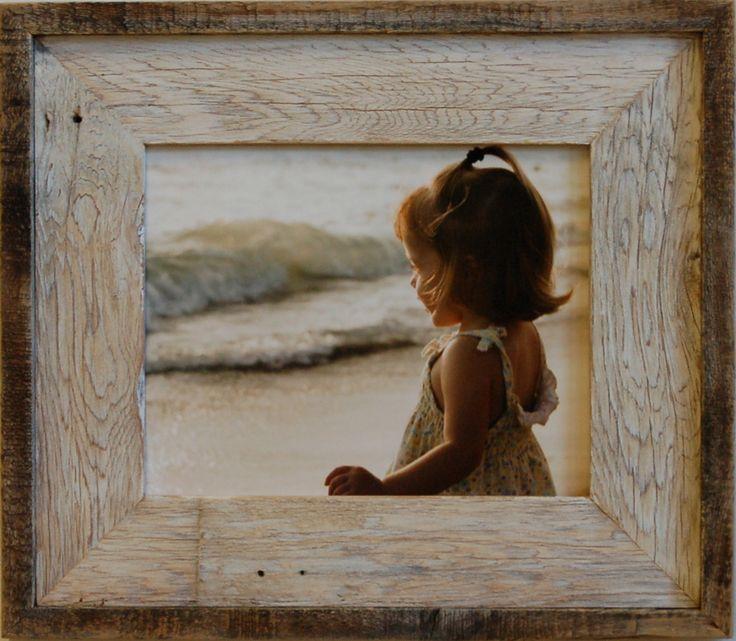 16x20 barnwood picture frame lighthouse whitewash
