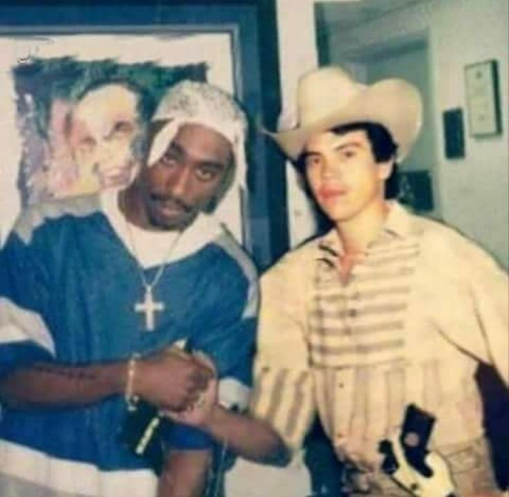 With Chalino Sanchez.  This could be an actual snapshot, not edited to look like one.  Sanchez dude = Mex celeb