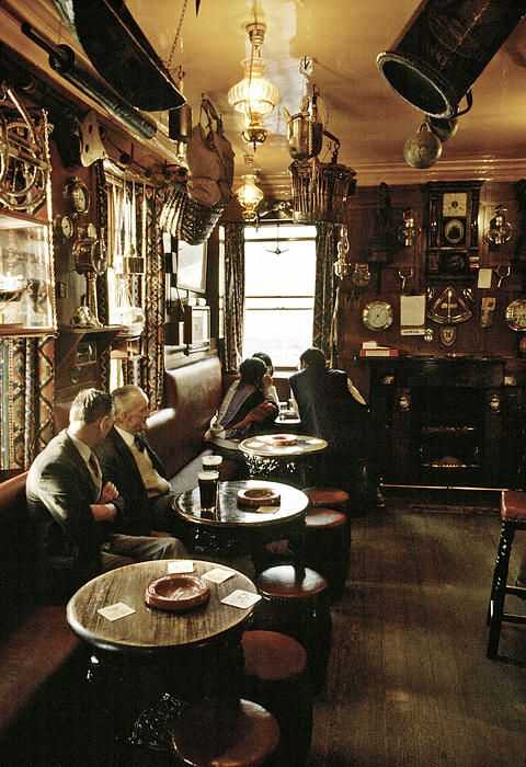 Early Evening In The Ship Inn Seahouses Uk 1980s ©David Davies