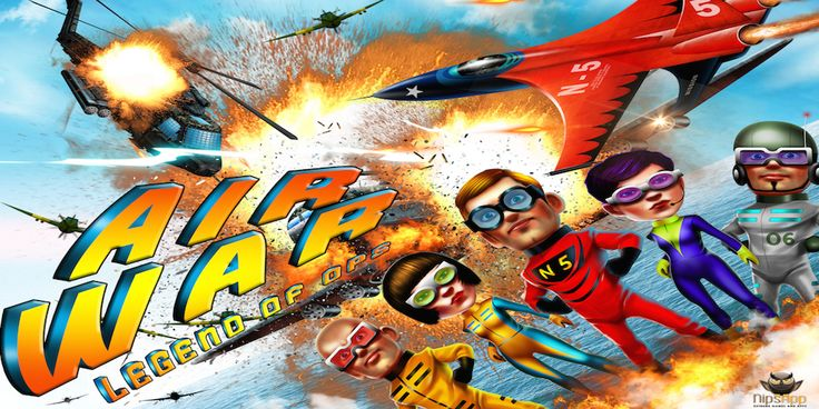 Air War Legends: A 3D flight war game developed by the nipsapp 3D game development team which ensures unlimited levels for life long entertainment. #nipsapp #iosgames #androidgames #airwar