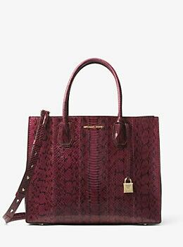 637469a6f0a45 MICHAEL MICHAEL KORS Mercer Snakeskin Tote