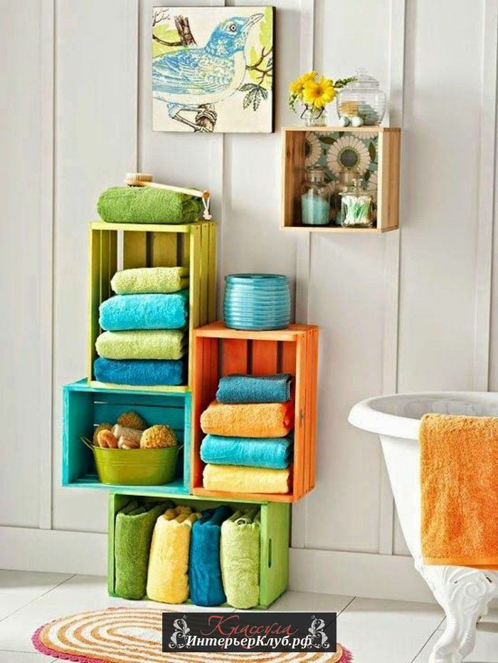Стеллаж из деревянных ящиков, мебель для дома из подручных материалов, сделать мебели из подручных материалов своими руками