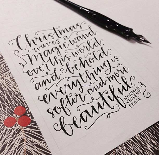 Gorgeous lettering by Emily Poe-Crawford