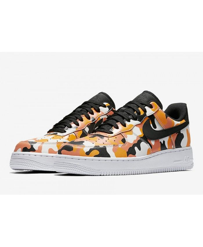 nouveau produit e3e7d 94614 Nike Air Force 1 Low (Basse) Country Camo Pack Femme Orange ...