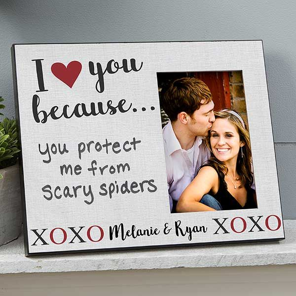 Funny Couples Gift Engraved Picture Frame I Love You More Than You Love Football Gift For Boyfriend Birthday Gift Anniversary Gift for Him