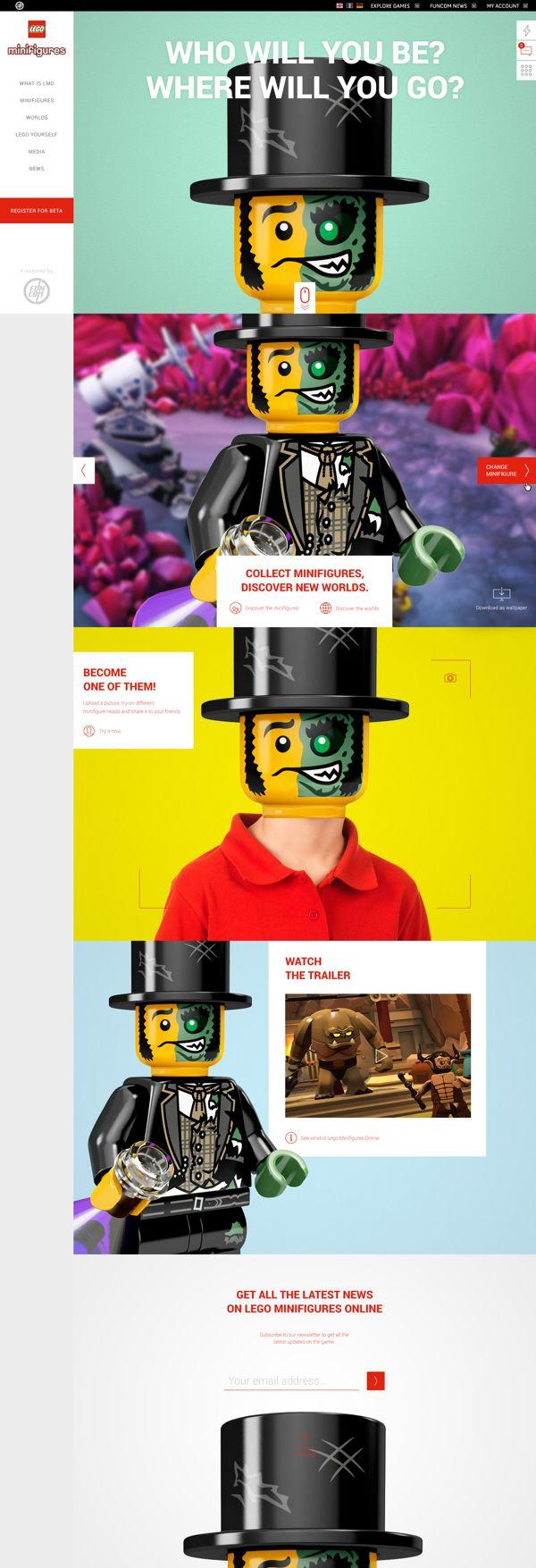 LEGO Minifigures. Get your Lego online. #webdesign #lego #design