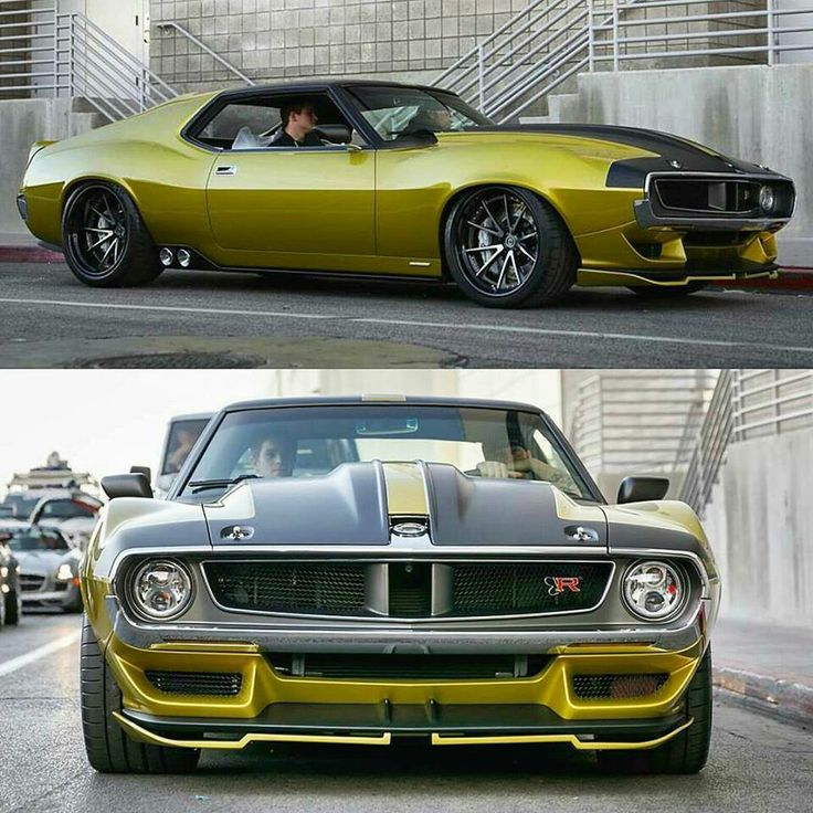 Modified 1972 AMC Javelin AMX with a 4.5L Supercharger added on the 6.2L Hellcat Engine for 1036hp (by the Ringbrothers)