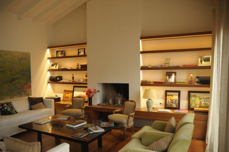 Arquitectura - Paisajismo - Ricardo Pereyra Iraola - Buenos Aires - Argentina - Casa - Living - Detalles - Bibliotecas