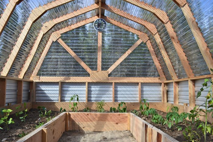 Barn Door Garden Greenhouse Plans Backyard Greenhouse
