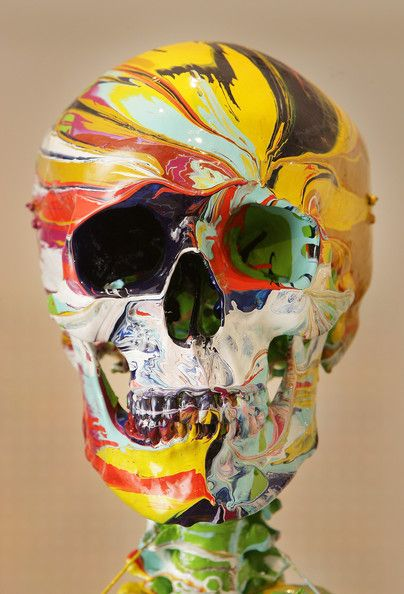 """St. Antony's Fire"" by Damien Hirst displayed at ""Beautiful Inside My Head Forever"" on September 8, 2008 in London."