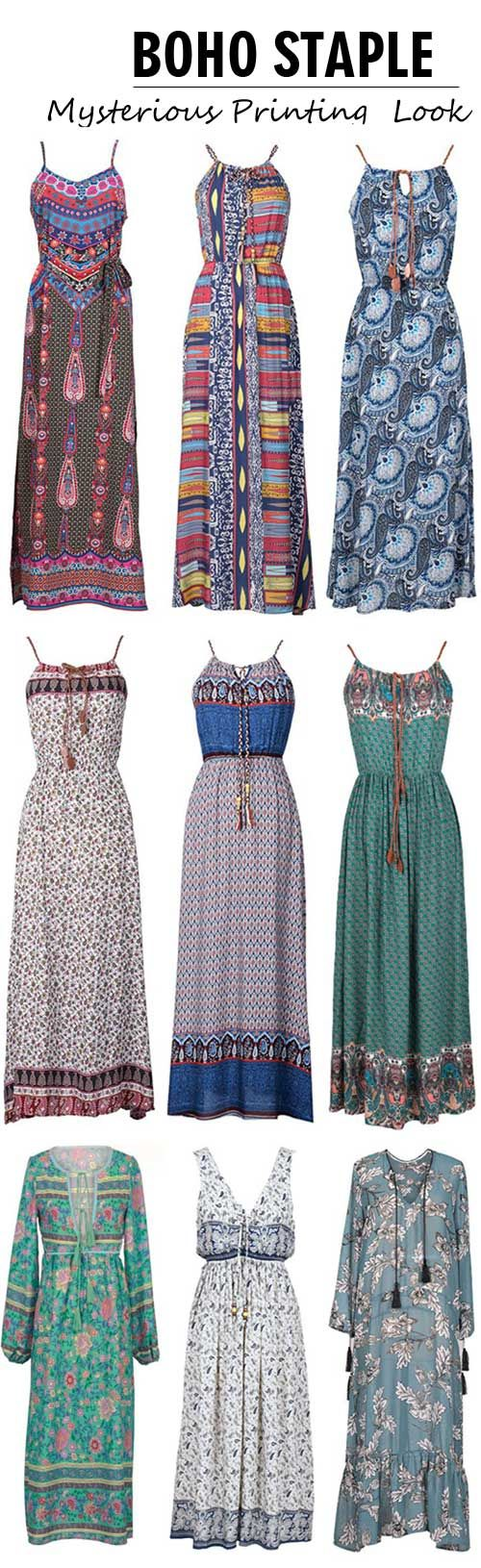 Even if you're not huge on bohemian, you'll love these dresses. Designed in a must-have print these maxi dresses are oh-so boho into your summer wardrobe.Check out amazing pieces that suit you at Cupshe.com !
