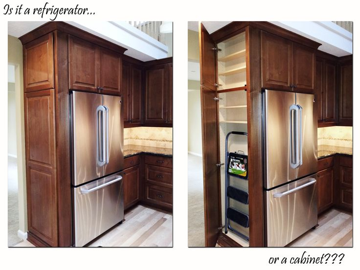 Custom Kitchen Cabinet U2013 Refrigerator Refrigerator Cabinet U2013 Ridgecrest  Homes. Idea For Area In Back Porch Fridge Bump Out.